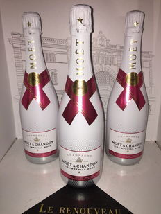 Moet & Chandon Ice Imperial Rosé Champagne - 3 bottles