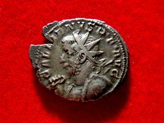 Roman Empire - Gallienus (253-268 A.D.) silver antoninianus (5,34 g, 23 mm). Colonia Agrippinensis mint (Cologne), 258-259 A.D. GERMANICVS MAX V.
