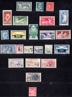 France 1907/1930 – Selection of 23 stamps