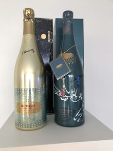Taittinger Collection : 1978 Victor Vasarelly - 1982  Andre Masson, Champagne - 2 Flessen