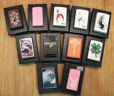 Original metal Zippos with packaging - Collection