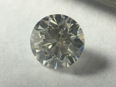 Diamond in brilliant cut 0.17 ct. G VVS 1 with HRD certificate