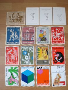 The Netherlands - batch children's thank you cards, stamp books, FDCs and stamp booklets.