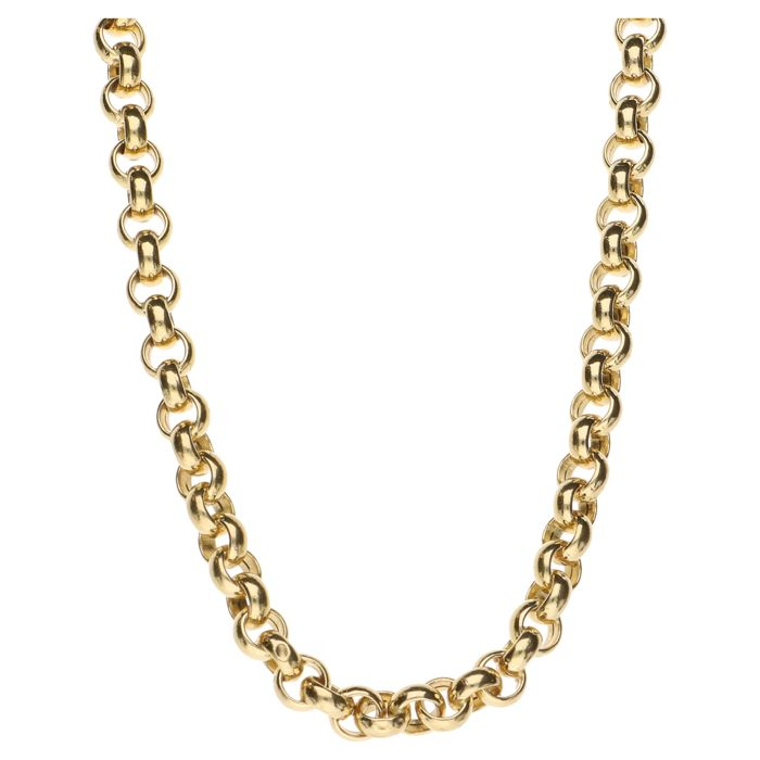 Yellow gold 14 kt Jasseron link necklace – Length: 45 cm