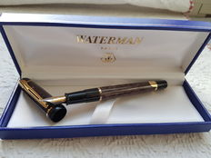 Waterman Phileas In Black &Grey Marble c1997 Working