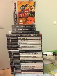 Lot of 20 games for various consoles - PS1, PS2, PS3, Nintendo GBA, Gamecube