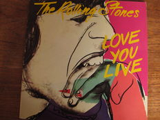 """Nice Lot of 5 albums with great Andy Warhol covers;  """"Faces""""."""