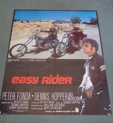 Easy Rider - Original French one-panel movie poster- 117 x 155 cm - 1978 - Peter Fonda