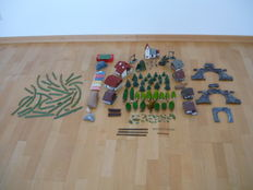 Scenery H0/TT - 56-piece set to install a landscape : set with houses trees and scatter material