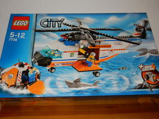 City - 7738 - Coast Guard Helicopter and Life Raft