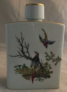 Saint Bernardaud & Co - Hand painted porcelain liquorbottle made for Distillery Rocher Freres La Cote St. Andre