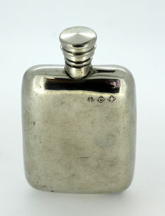 Silver Plate Hip Flask, Made in 1920's