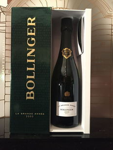 "2005 Bollinger ""La Grande Année"" Champagne  – One bottle with its original box."