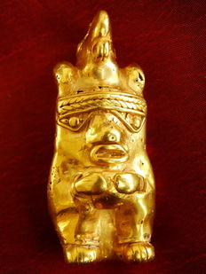 Pre-Colombian Tumbaga Gold - 55x22mm, 26'9 grs