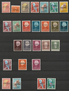 The Netherlands-New Guinea 1962 – Selection of UNTEA with errors