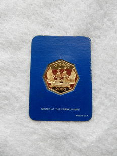 "Netherlands Antilles - 200 guilders ""Andrew Doria"" - gold in original packaging"