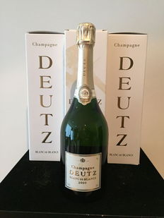 Champagne Deutz Blanc de Blancs 2009 – three bottles.