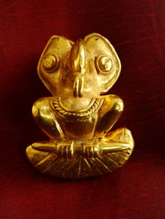 Pre-Colombian Tumbaga Gold - 40x30mm, 24'5 grs