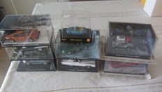 James Bond Cars Collection - 8 x model cars from the movies - GE Fabri ltd - Shell  1/43 - 1/64 2006-2008