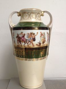 Heinrich Wehinger & Co-porcelain vase with handles