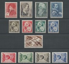 The Nederlands 1934/1935 – Selection that includes child – NVPH 270/276, 279/282
