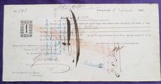 Curaçao; Promissory note buying the freedom of slaves on Curaçao - 1863