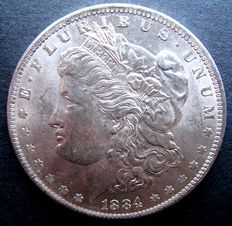 United States - Morgan Dollar 1884O (New Orleans) - Silver