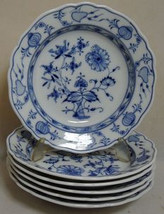 Meissen porcelain - 6 pcs dinner set 23cm