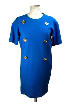 Gianfranco Ferré – Vintage dress from the 1970s with golden buttons.