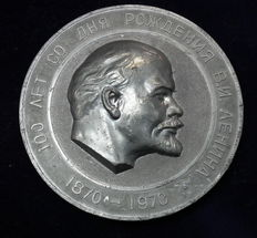 USSR/Russia - Big Metal Medal 1970 commemorating to 100 Years of Birth of V. I. Lenin