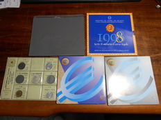 Italy, Republic – 1974–2006 divisional series, Lira and Euro coins including silver ones