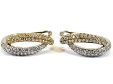 Golden earrings with diamonds appx. 0,52ct