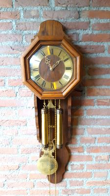 Wooden wall clock - Period: second half 20th century