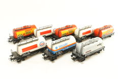 Märklin H0 - 4441/4447/4532/4561 - 8 pieces tank wagons