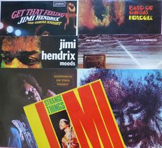 Lot of 7 legendary Jimi Hendrix albums; Get A Feeling (with Curtis Knight), Strange Things, Band of Gypsys, Hendrix in the West. Moods, The Cry of Love and Re-Experienced (2)