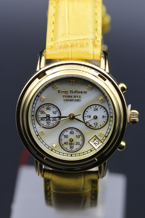 Krug Baumen Principle Diamond chronograph - wristwatch - never worn