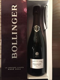 "2005 Bollinger ""La Grande Année"" Rosé Champagne – One bottle with its gift box."