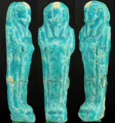 Ancient Egyptian nice blue faience Shabti - ca. 10 cm - c. 3,94 inches