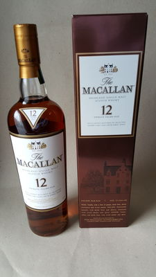 Macallan 12 years old exclusively matured in selected Sherry oak casks from Jerez Spain + free 3ml sample of this whisky