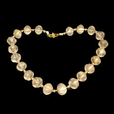 Near Eastern Crystal Beads Necklace, 49 cm total length