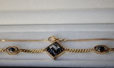 Handmade necklace, 14 kt