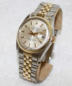 Rolex Datejust Oster Perpetual 1601 automatic chronometer gold/steel - men's watch - 1960-1970's