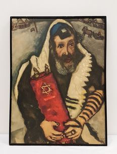 Chagall - Rabbi With Torah - 20th century