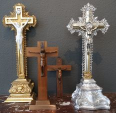 Four crosses with Corpus Christi