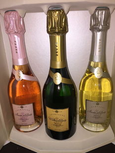2008 & 2009. Case of 3 half-bottles of Deutz Champagne (37.5 cl) Trio Prestige.