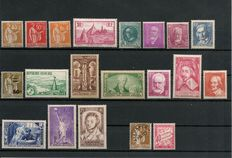 France 1931/1936 - Collection of 20 stamps, Yvert no. 282 - 310.