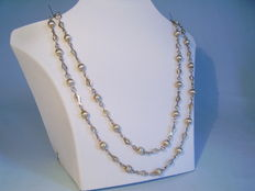 Long solid silver chain, Charleston chain from 1935/40