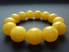 Baltic Amber bracelet in egg yolk, honey colour 40.34 gr.