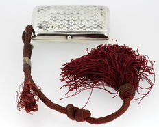 Silver tobacco box with rope, Russia, Moscow, 1872