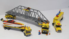 City - 3221 + 4643 + 7900 - LEGO Truck + Power Boat Transporter + Heavy Loader